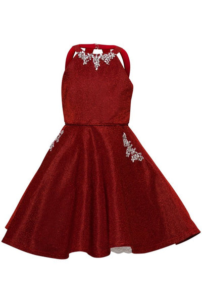 Girls Halter Neck Party Dress