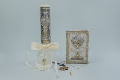 Religious Candle Set with Chalis