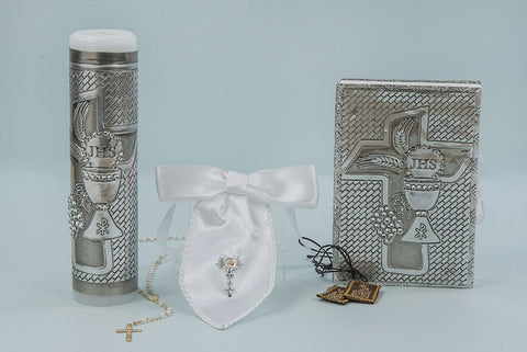 Baptism Candle Set With Cross