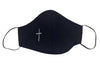 Navy First Communion Mask With Embroidered Cross