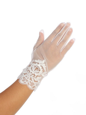 Girls Lace Gloves