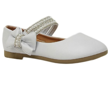 Girls Taylor Shoe with Bow and Pearls
