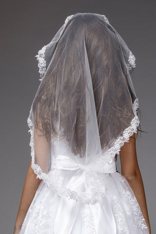 Girls Lace Mantilla Style Communion Veil