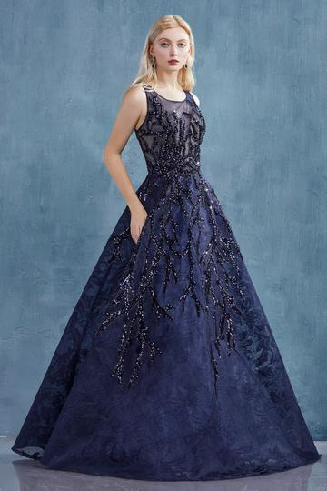 Lace with Jacquard Ball Gown