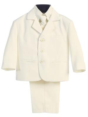 Boys 5pc Ivory Formal Suit