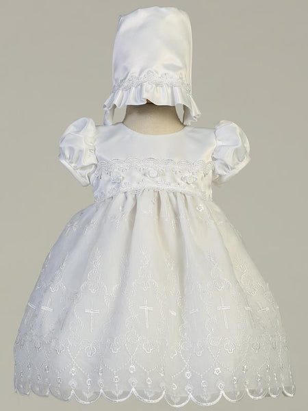 Alondra Satin Christening Dress