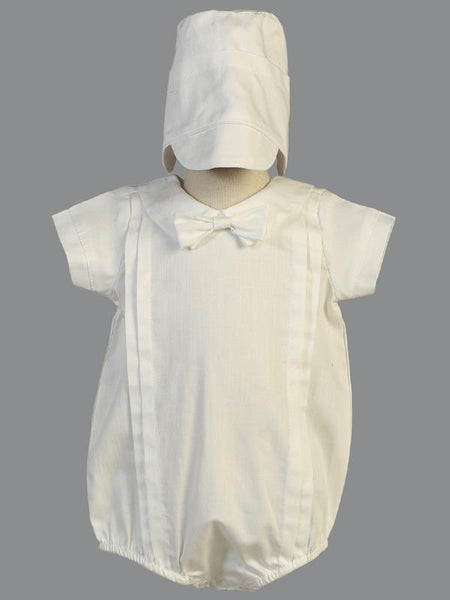 Brian Cotton Christening Romper