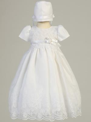 Candice Embroidered Organza Baptism Dress