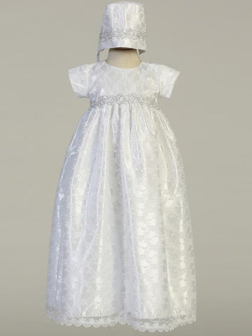 Cassandra Lace Christening Gown