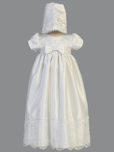 Cathy Satin Christening Gown