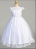 Girls Embroidered Lace First Communion Dress