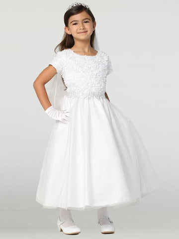 Chiffon on Tulle First Communion Dress