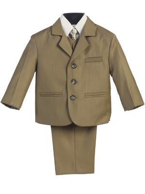 Boys 5pc Olive Formal Suit