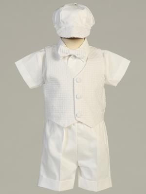 Dexter Basket Weave Christening Short Set
