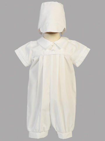 Dylan Cotton Christening Romper
