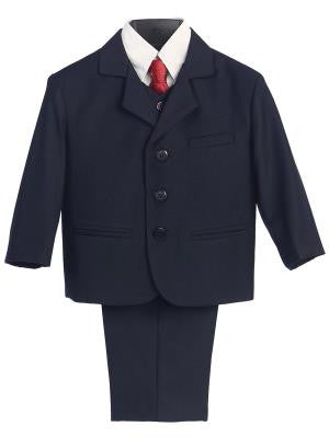Boys 5pc Navy Formal Suit