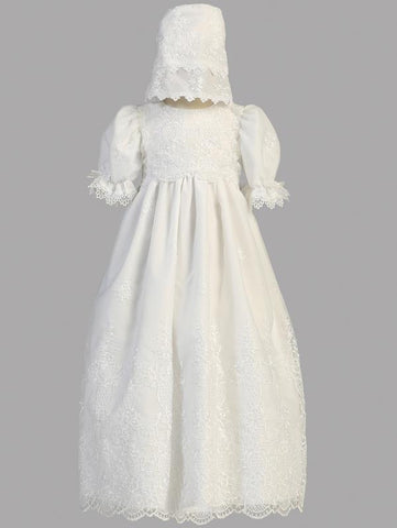 Emily Embroidered Christening Gown