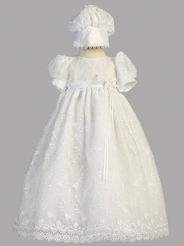 Emma Embroidered Christening Gown