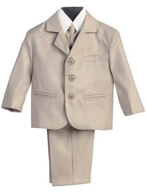 Boys 5pc Khaki Formal Suit