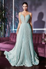 Junior Pleated A-Line Gown