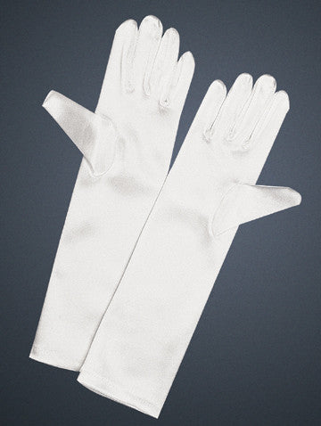 Girls Long Satin Formal Gloves