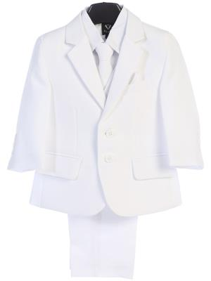 Boys 5pc White Suit