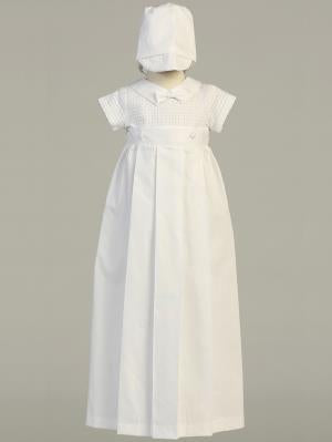 Mason Cotton Weave Detachable Christening Gown