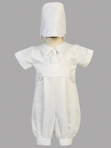 Matthew Satin Christening Romper