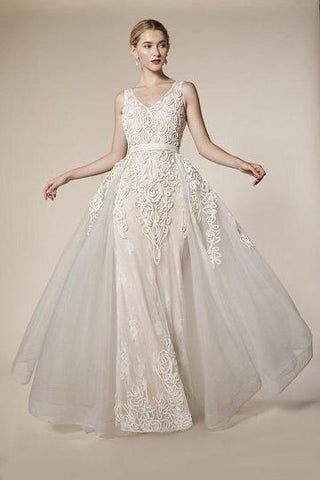 Lace A-Line Shape Gown