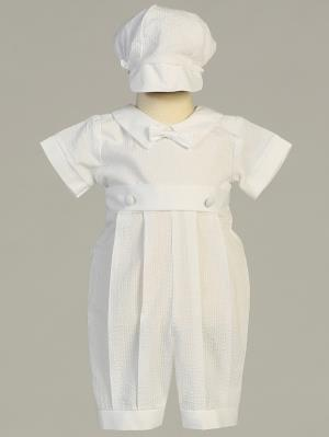 Raymond Cotton Seersucker Romper