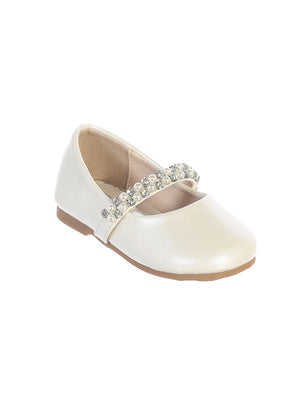 Toddler Leatherette Rhinestone and Pearl Shoes