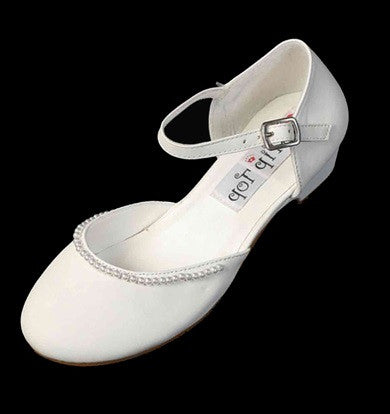 Girls Pearl Trimmed Shoes