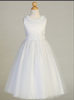 Girls Satin and Pearl Bodice Communion Dress