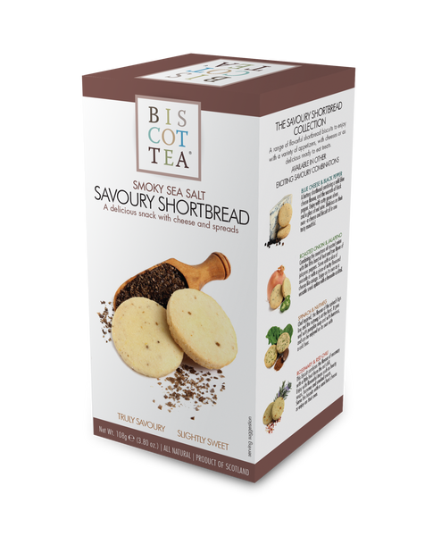 BISCOTTEA SAVOURY SHORTBREAD: Smoky Sea Salt