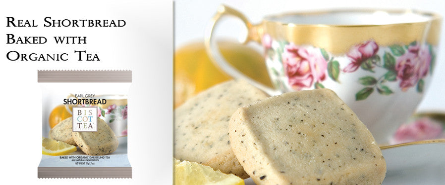Biscottea - Real Shortbread Baked with Organic Tea