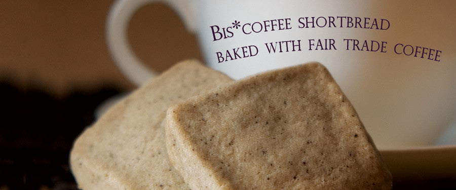 Bis*coffee Shortbread Baked with Fair Trade Coffee