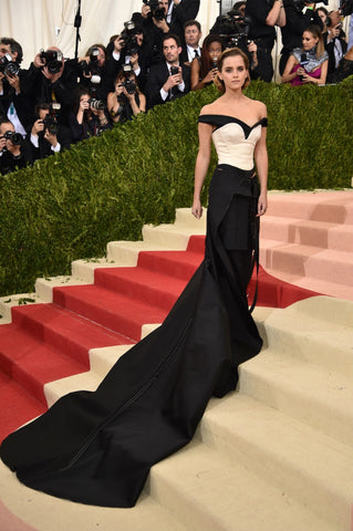 Emma Thompson in recycled plastic bottles at Met Gala featured by Fed By Threads