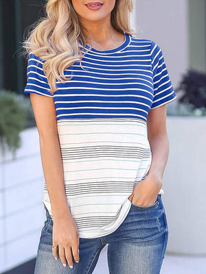 03-23T18:30:44-07:00 *** Colorful Striped Short Sleeve T-Shirts