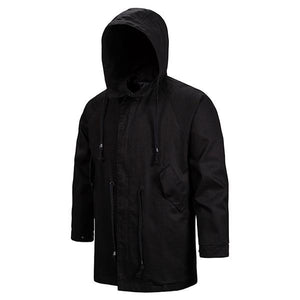 03-24T13:16:12+08:00 *** Men Hooded Zipper Long Sleeve Drawstring Solid Jackets