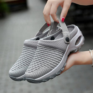 Wed Jun 10 2020 11:00:10 GMT+0300 (Eastern European Summer Time) **** Women mesh breathable thick bottom air cushion heelless shoe cover shoes