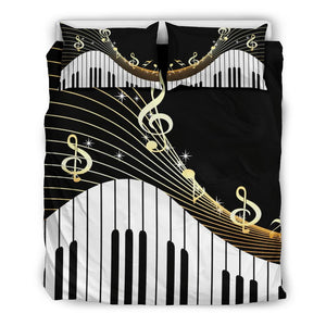03-24 *** Piano Key and Music Notes Bedding Set