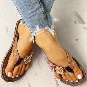 03-23T20:01:28-07:00 *** Vidiashoes Flower Design Flat Sandals