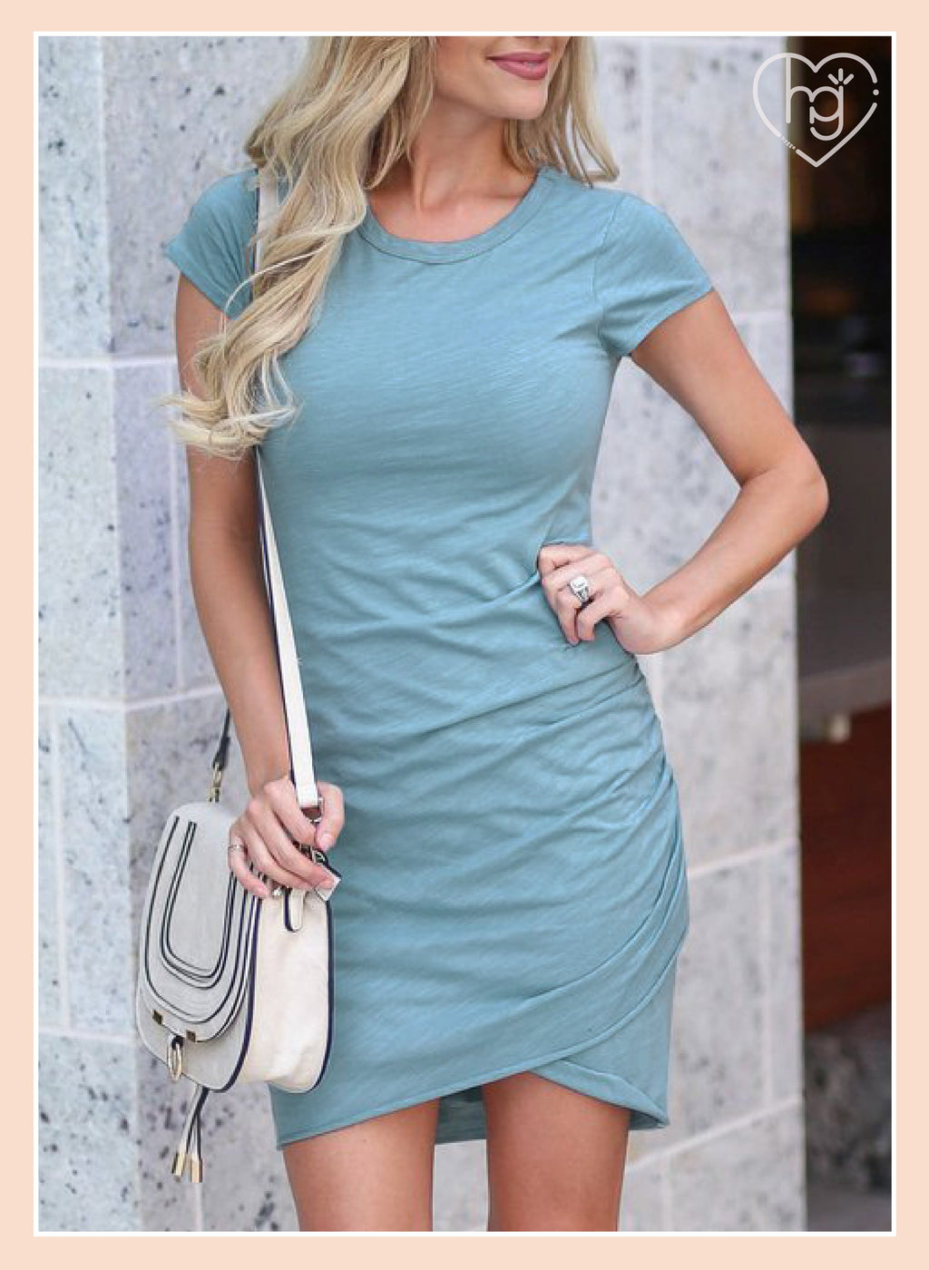 03-22T23:55:47-07:00 *** Dress Comfy Short Sleeve Wrap Pencil Dress