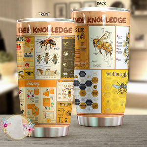 03-23T21:01:33-07:00 *** Bee Knowledge Stainless Steel Tumbler 20 Oz NMT0203101