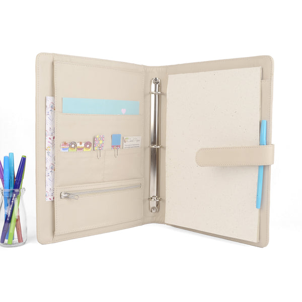MAISON- A4 Leather Ring Binder Organizer
