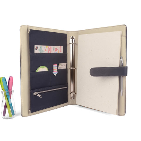 MAISON- A4 & USA Letter Ring Binder Organizer TWO TONE