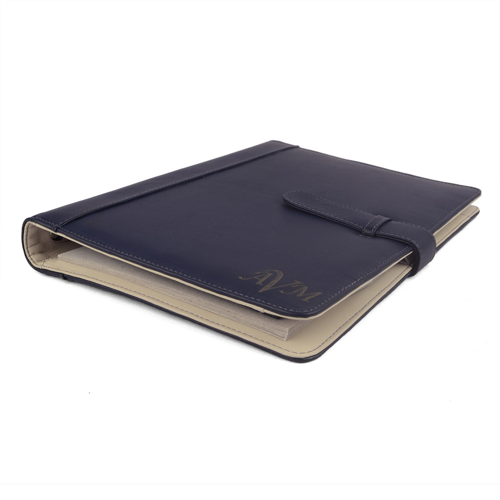 MAISON- A4 Leather Ring Binder Organizer TWO TONE