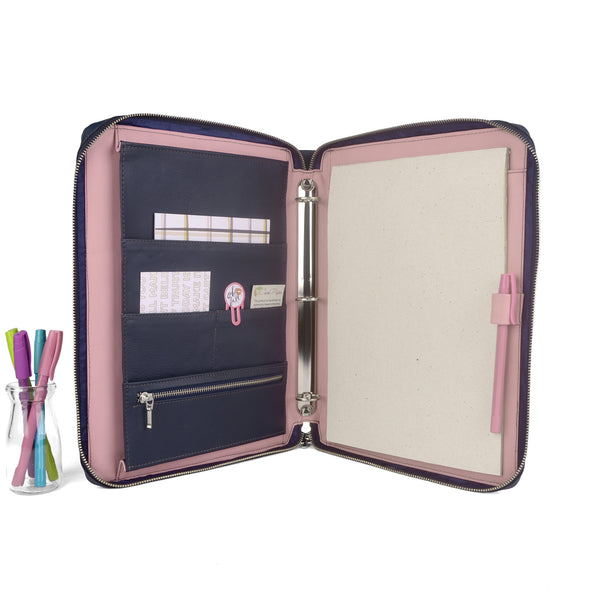 MAISON- Zippered A4 & USA Letter Ring Binder Organizer TWO TONE