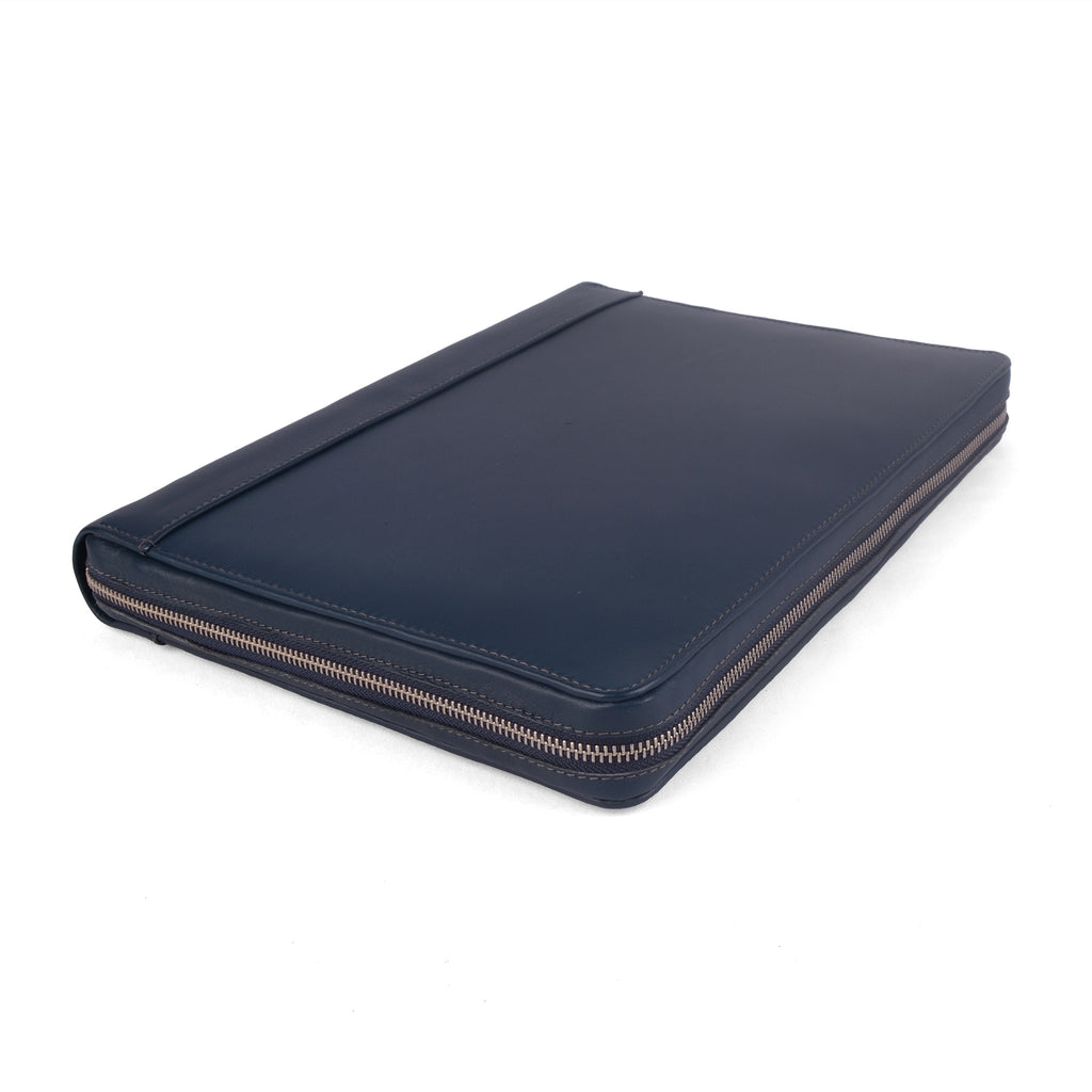 MAISON- Zippered A4 Leather Ring Binder Organizer TWO TONE