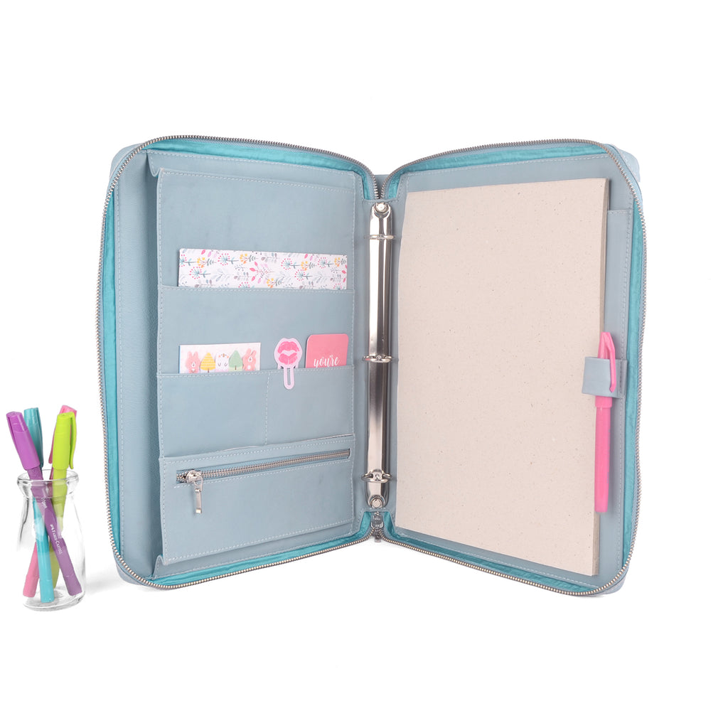 MAISON- Zippered A4 Leather Ring Binder Organizer